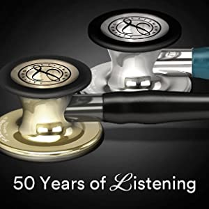 Black Tube Smart 3m Littmann Master Cardiology Iv Stethoscope Smoke Chest Piece 6162