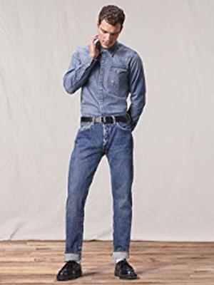 levi's; levis; 501; mens; men's; jeans; straight; fit; denim, blue; style; pants