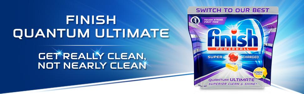 finish quantum ultimate get really clean not nearly clean dish dishwasher dishwashing detergent