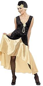 SmiffyS 26110M Disfraz De Chica Joven Jazz Años 20 Con Vestido Y ...
