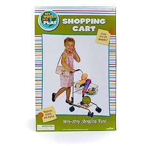 KIDS SHOPPING CART, PRETEND PLAY