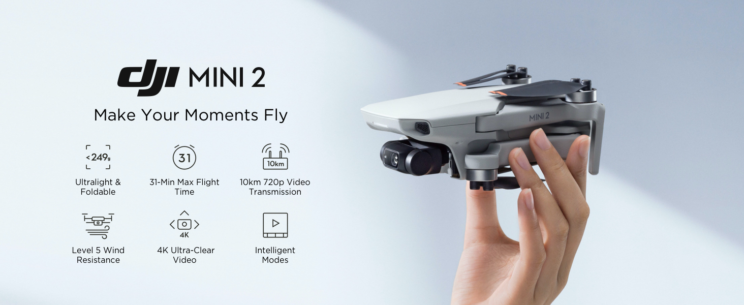 Mini drones with long flight time