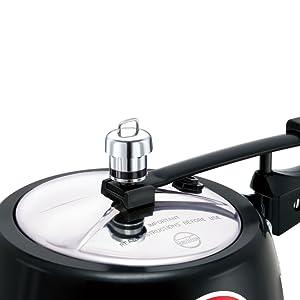 Hawkins Contura Black Pressure Cooker 3 Litre,Hawkins pressure cooker,Pressure Cooker,Cooker