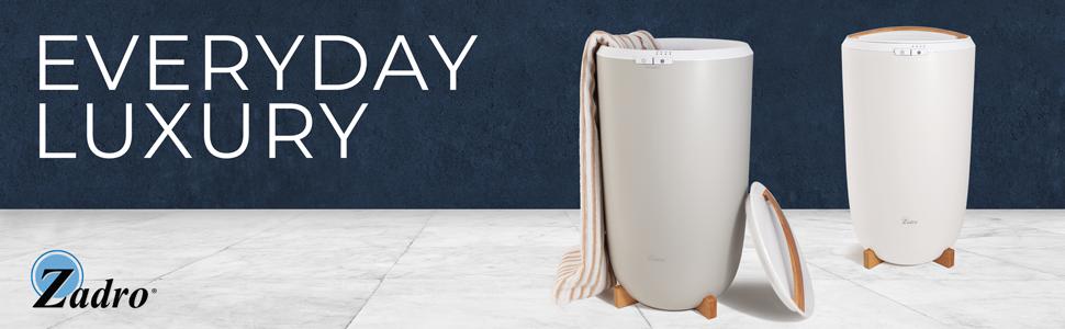 Zadro Ultra Large Towel Warmer Gray White
