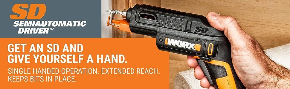 WORX WX255L SD Semi-Automatic Power Screw Driver with Screw Holder 13