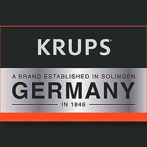 KRUPS, German, American, logo, brand story
