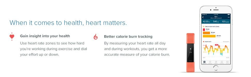 Alta HR, Fitbit, heart rate, calorie tracking, features