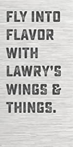 Fly in flavor with Lawry's Wings amp; Things