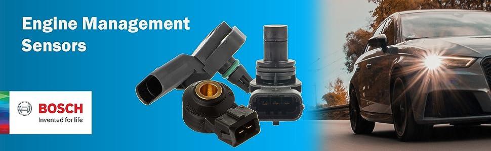 Shop Bosch Engine Management Sensors Knock Crankshaft Camshaft Position MAP MAF Oxygen Temperature