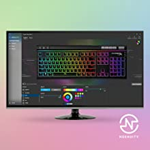 Advanced customization with HyperX NGENUITY