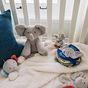 flappy elephant collection plush stuffed animal infant baby bog gund rattle soft book gift