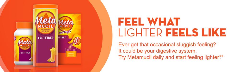 Amazon Com Metamucil Fiber 300 Capsules 3 In 1 Psyllium Husk Supplement Natural Digestive Health Health Personal Care