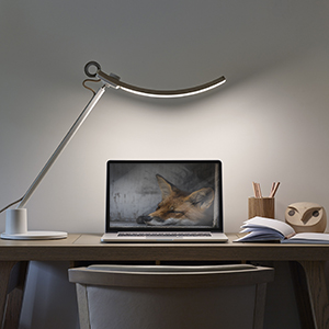 Lights up your entire desk (no screen glare)