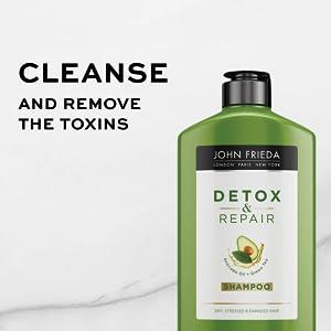 John Frieda, Detox Repair, Shampoo, Cleanse