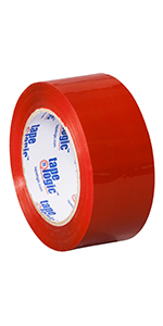 T90222R Tape Logic Red Carton Sealing Tape for Packing Color Coding