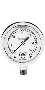 pressure guages, liquid filled gauges, vibration gauges