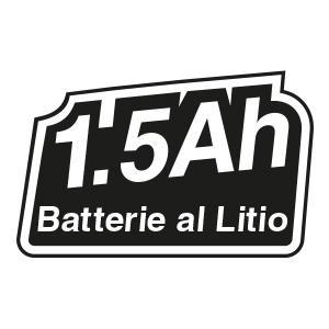 Batteria, litio, leggera, compatta, 1.5 Ah, protezione termica, elevata vita di servizio,