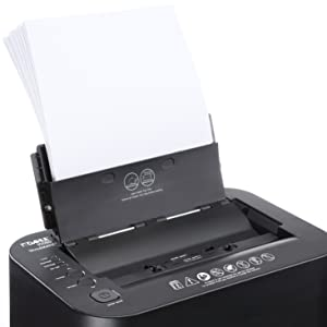 Auto-Feed Convenience, load up to 80 sheets of paper in the tray for efficient shredding.