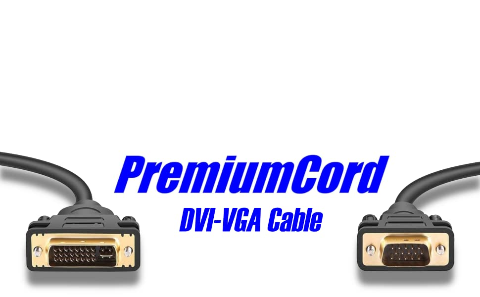Premiumcord Dvi Vga Cable 1 M Computers Accessories