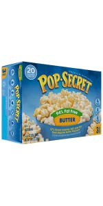 popcorn, healthy popcorn, butter popcorn, pop secret, fat free popcorn