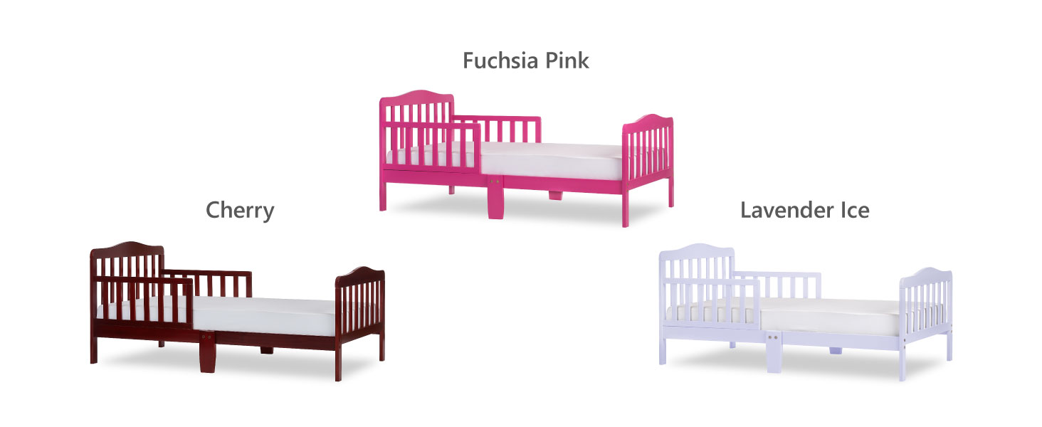 toddler bed in pink for girls,toddler bed in cherry for boys,toddler bed in lavender for girls, bed