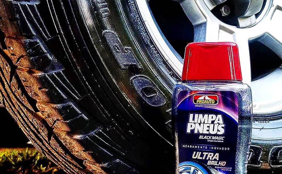 pneu pretinho limpa pneus proauto ultra brilho