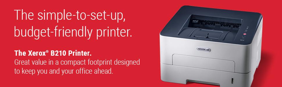 Xerox B210DNI Monochrome Laser Printer, White