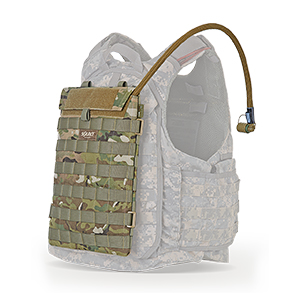 Designed to fit on ballistic vest and rucks