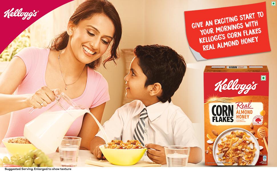 almond,honey,cornflakes,corn flakes,healthy,snacks