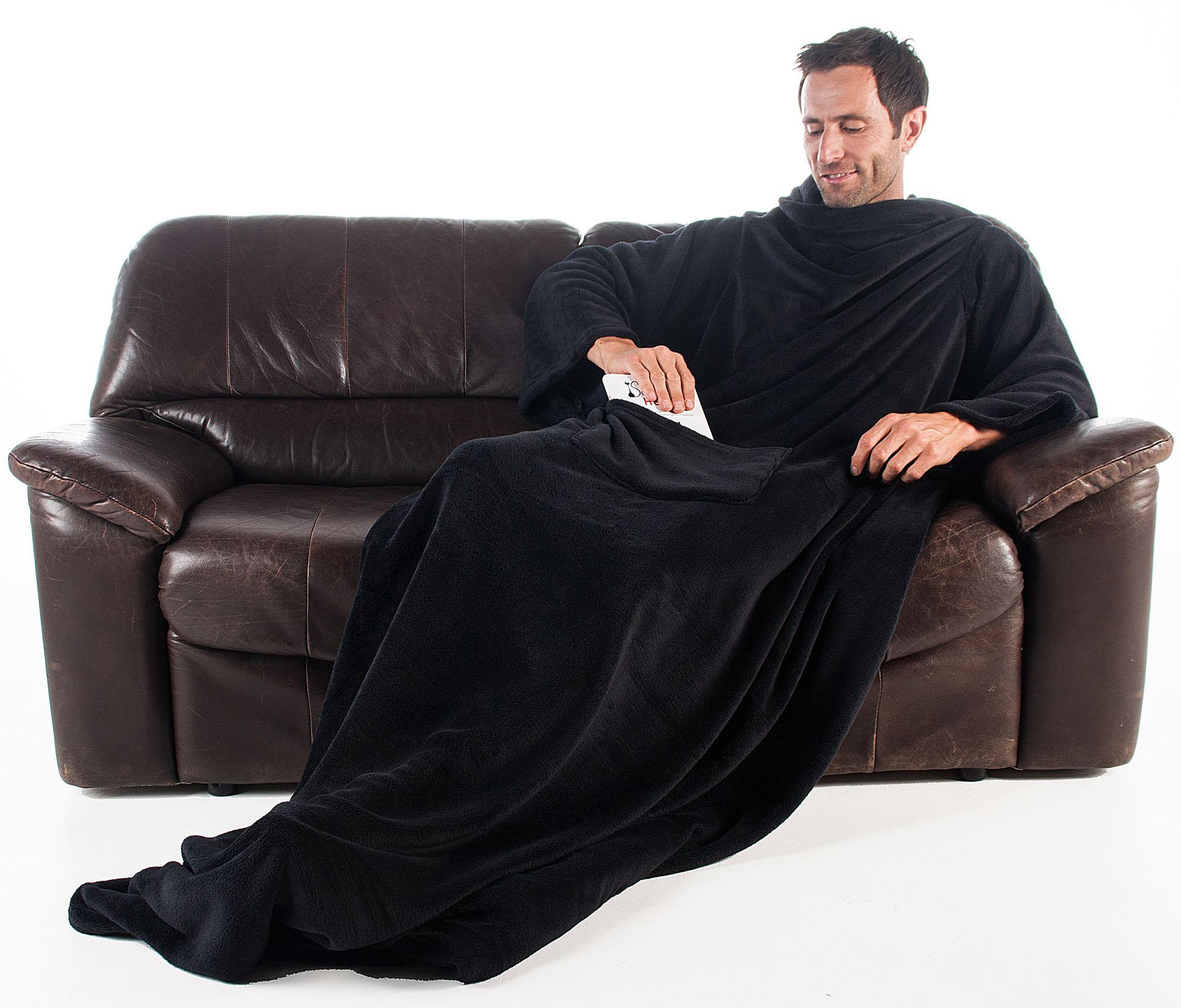 tv decke mit rmeln xl kuscheldecke 170 x 200 cm 50 cm fu tasche und handytasche. Black Bedroom Furniture Sets. Home Design Ideas