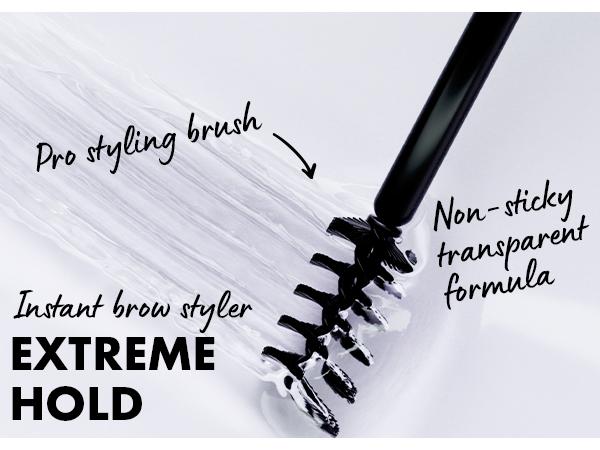 nyx brow glue long wear eyebrow setter transparent clear finish vegan