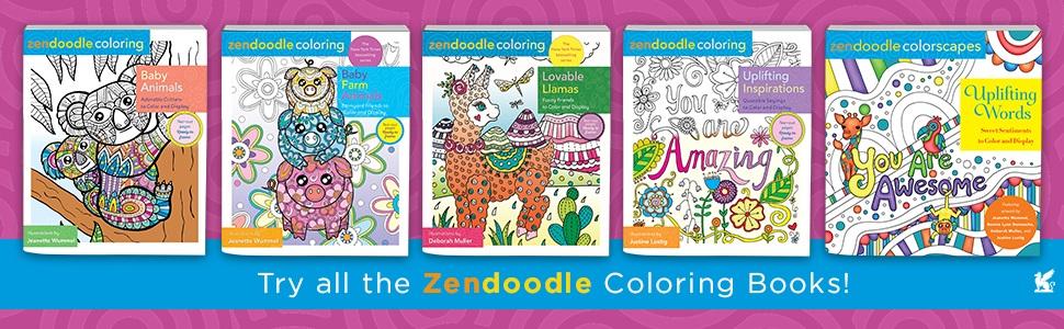 Zendoodle Coloring Uplifting Inspirations Justine Lustig