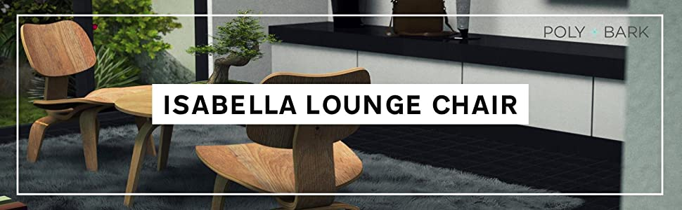 : Poly and Bark Isabella Lounge Chair, Natural