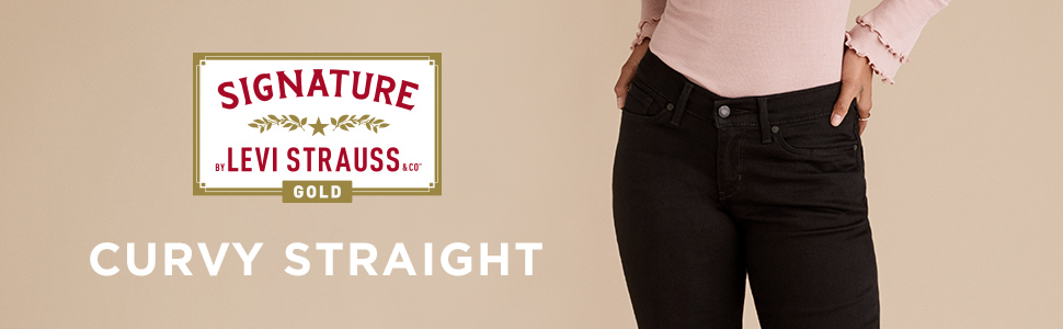 Womens Curvy Straight Jean