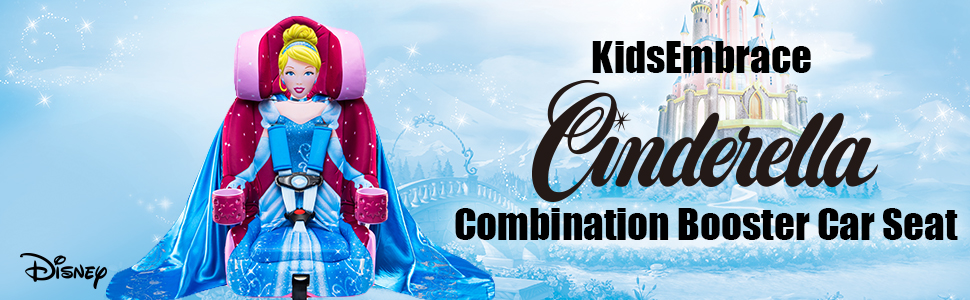 Cinderella Car Seat big kid car seat youth high back child safety seats with harness kids