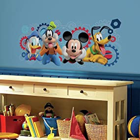 disney mickey mouse clubhouse capers peel and stick wall decals, peel and stick wall decals