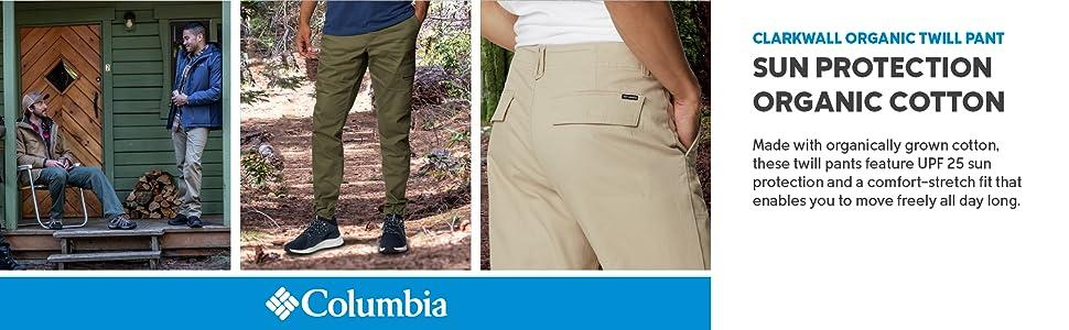Columbia men's Clarkwall Organic Twill Pant