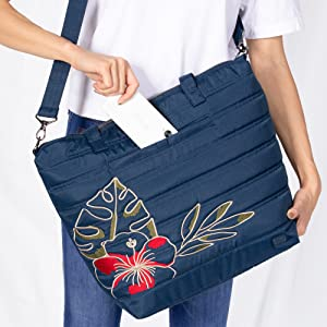 bag with pockets, bag with cell phone pocket, bag with soft lined pocket