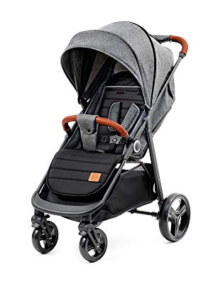 Kinderkraft Grande silla de paseo plegable negra
