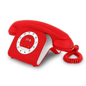 SPC Retro Elegance Mini teléfono Fijo de diseño Elegante de Color Rojo: Spc-Telecom: Amazon.es: Electrónica