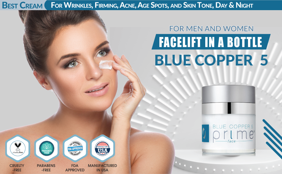 Osmotics Blue Copper 5 Prime Face, Anti Aging Face Cream For Men and Women, Best Cream For Wrinkles,