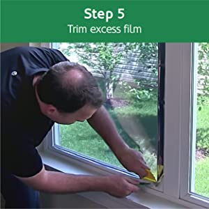 Trim the window film