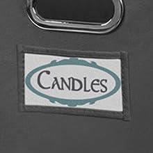 niche, regency, tote, bin, storage, label holder, label, customize, cube storage, cubo, grey, detail