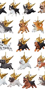 Design Toscano Honor the Pets: Dog and Cat Angel Ornaments Complete Set of 27