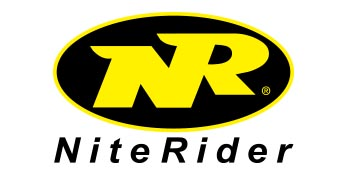 niterider best cycling lighting oval yellow and black logo