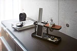 山崎実業 デスクバー タワー ブラック 2300