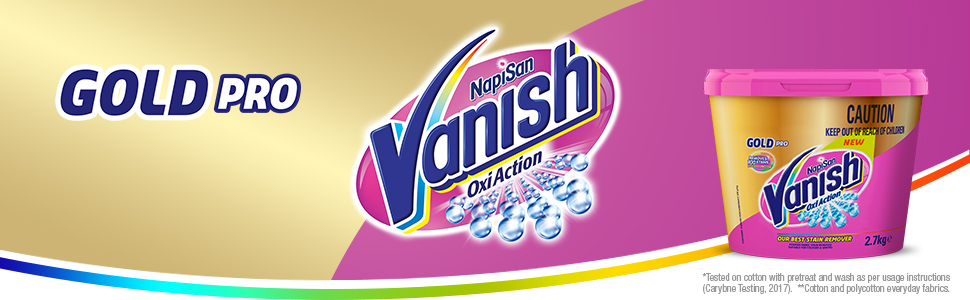 Vanish Gold Oxi Action Gel Fabric Stain Remover with 30 second amazing stain removal. Vanish Napisan
