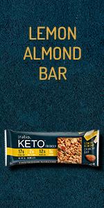 :ratio KETO friendly Lemon Almond Crunchy Snack Bar