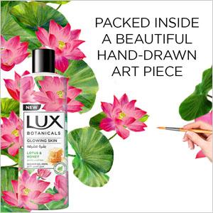 Lux botanicals, lotus and honey, soap, bodywash, glowing skin, nourishing, paraben free, gentle soap