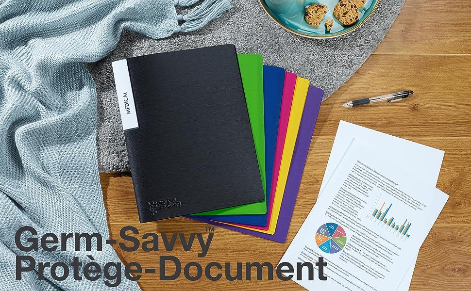 porte document vue classeur page plastique livre d'affichage portfolio dossier pochette feuille